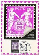 Carte Maximum 1976 - Journée Du Timbre 1976 - Centenaire Du Type Sage  YT 1870  - 08 Sedan - 1970-79