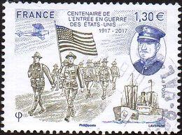 France Oblitération Cachet à Date N° 5156 ** Centenaire De L'entrée En Guerre Des États-Unis - Oblitérés