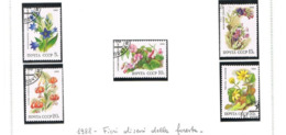URSS - SG 5891.5895   - 1988  DECIDUOUS FOREST FLOWERS (COMPLET SET OF 5)  - USED° - RIF. CP - Usati