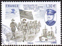 Oblitération Cachet à Date Sur Timbre De France N° 5156 ** Centenaire De L'entrée En Guerre Des États-Unis - France