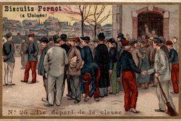 CHROMO BISCUITS PERNOT DIJON  N° 25 LE DEPART DE LA CLASSE - Pernot