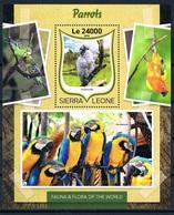 Bloc Sheet Oiseaux Perroquets Birds Parrots Neuf  MNH ** Sierra Leone 2016 - Parrots