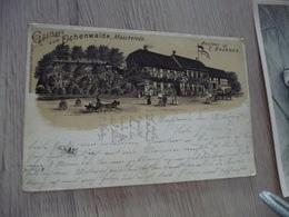 CPA Allemagne Deutschland Gathaus Zum Fichenwalde Mascherode Besitze Brendes Litho Précurseur - Allemagne