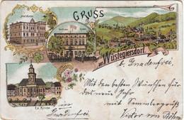 Gruss Aus WÜSTEGIERSDORF,Głuszyca,   Lithographie - Schlesien