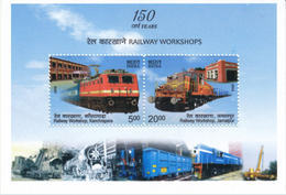 5X INDIA 2013 150 Years Of Railway Workshops; Miniature Sheet, MINT - Unused Stamps