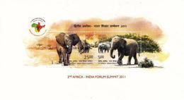 5X INDIA 2011 Africa - India Forum Summit; Miniature Sheet, MINT - Unused Stamps
