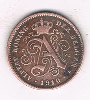 2 CENTIMES 1910 VL  BELGIE /244/ - 1909-1934: Albert I