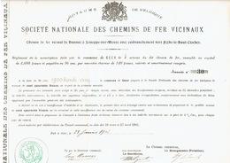 Action De 1901 Commune De GEER Pour Le CHEMIN DE FER VICINAL DE HANNUT à JEMEPPE-SUR-MEUSE Vers FEXHE-LE-HAUT-CLOCHER - Chemin De Fer & Tramway