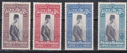 E133 – EGYPTE – EGYPT – 1929 – PRINCE FAROUK'S  9th BIRTHDAY– SCOTT # 155/58 MNH - Egipto