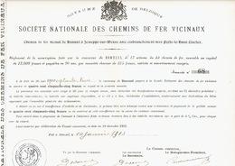 Action De 1903 Commune De DONCEEL Pour Le CHEMIN DE FER VICINAL DE HANNUT à JEMEPPE-SUR-MEUSE Vers FEXHE-LE-HAUT-CLOCHER - Chemin De Fer & Tramway