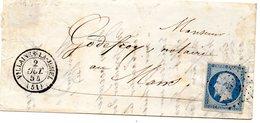 Mayenne - LAC Affr  N° 14Af Obl PC 3585 C 15 Villaines-la-Juhel - 1849-1876: Période Classique