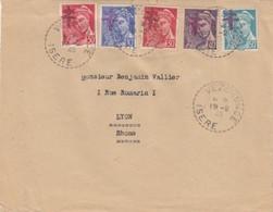 LETTRE. LIBERATION. ISERE VEZERONCE. 19 FEVRIER 1945  /  2 - Liberation