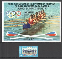 UU520 ONLY ONE IN STOCK OVERPRINT NICARAGUA OLYMPIC GAMES MONTREAL 1976 MICHEL #1959 BL95 1ST+1BL MNH - Verano 1976: Montréal