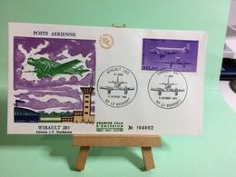 POste Aériene Wibault 283 -93 Le Bourget - 22.11.1986 - FDC 1er Jour Coté 30€ - 1960-.... Lettres & Documents