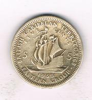 5 CENTS 1955 EAST CARIBBEAN STATES /254/ - Monnaies