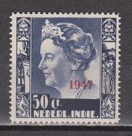 Nederlands Indie 329 MLH ; Koningin, Queen, Reine, Reina Wilhelmina Opdruk 1947 NETHERLANDS INDIES PER PIECE - Niederländisch-Indien