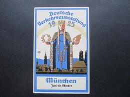 DR 1925 Nr. 370 EF Auf Sonderpostkarte Zur Deutschen Verkehrs Ausstellung München Karte I Mit Sonderstempel - Deutschland