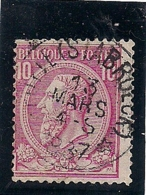 """NR.46 AFSTEMPELING """"PUTTE (STABROEK)"""" GEBRUIK VAN 1886 TOT 1890 DAN VERDER PUTTE 'CAPPELLEN) - 1884-1891 Leopoldo II"""