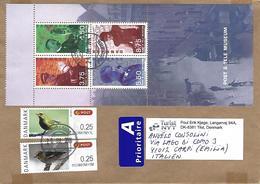 Denmark 2014 Tilst ATM Birds Postal Museum MS Cover - Vignette Di Affrancatura (ATM/Frama)