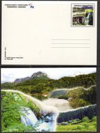 TURKEY , 2014, MINT POSTAL STATIONERY, PREPAID POSTCARD, WATERFALLS, MOUNTAINS, FORESTS, BOATS - Geology
