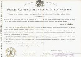 Action De 1903 Commune De CELLES Pour Le CHEMIN DE FER VICINAL DE HANNUT à JEMEPPE-SUR-MEUSE Vers FEXHE-LE-HAUT-CLOCHER - Chemin De Fer & Tramway