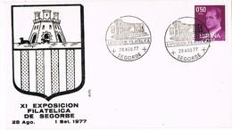 35334. Carta SEGORBE (Castellon) 1977. XIExposicion Filatelica. Auditorio Jardin Botanico - 1931-Hoy: 2ª República - ... Juan Carlos I
