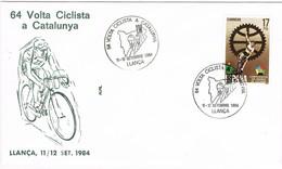 35335. Carta LLANÇA (Gerona) 1984. 64 Volta Ciclista Catalunya. Ciclismo - 1931-Hoy: 2ª República - ... Juan Carlos I