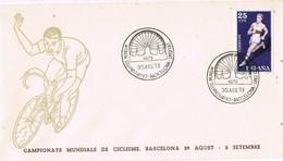 35337. Carta BARCELONA 1973. Campeonato Mundial Ciclismo. Montjuich - 1931-Hoy: 2ª República - ... Juan Carlos I