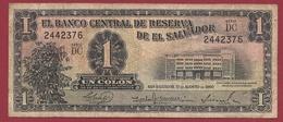 Salvador 1 Colon Du 26/05/1962 Dans L 'état (TRES RARE) - Salvador
