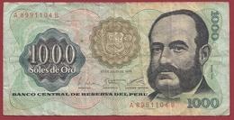 Pérou 1000 Soles De Oro Du 22/04/1976 Dans L 'état - Peru