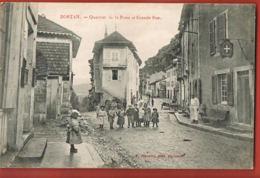 CPA - DORTAN -01 - Ain- Quartier De La Poste Et Grande Rue-animée-Enfants  Recto Verso Voyagée 1907-Paypal Sans Frais - Sonstige Gemeinden