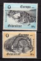 GIBRALTAR GIBILTERRA 1983 EUROPA CEPT SERIE COMPLETA COMPLETE SET MNH - Gibilterra
