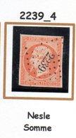 France : Petit Chiffre N° 2239 : Nesle (  Somme   ) Indice 4 - Marcophilie (Timbres Détachés)