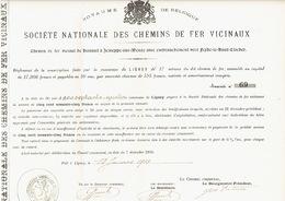 Action De 1903 Commune De LIGNEY Pour Le CHEMIN DE FER VICINAL DE HANNUT à JEMEPPE-SUR-MEUSE Vers FEXHE-LE-HAUT-CLOCHER - Chemin De Fer & Tramway