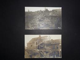 Photo ( 137 )  Foto  2 Photos  2 Foto ' S :  Wervicq  Wervik  -  Guerre  Oorlog 1916 - Lieux
