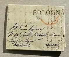 Prefilatelica Bologna-Lucca - Anno 1834 Con Testo - Italia
