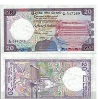 Billet Sri Lanka 20 Ruppies - Sri Lanka
