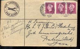Nederlands Indië - Luchtpost - Blokje Van 3 - Juliana - 1948 - Marcophilie