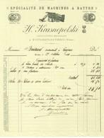 """Facture Decorative 1904 Nuits-Sous-Ravieres ( Yonne ) """" H.KRASNOPOLSKI Machines A Battre """" - Agriculture"""