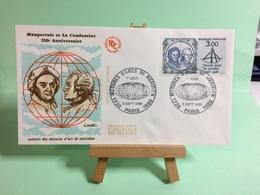 Mesures D'arcs De Médidien - Paris - 5.9.1986 - FDC 1er Jour Coté ..€ - FDC