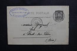 FRANCE - Entier Postal Type Sage De Ste Colombe Sur Seine Pour Pont De Vaux En 1894 - L 50427 - Cartes Postales Types Et TSC (avant 1995)