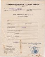 Six Lettres De La Cie Gle Transatlantique Paquebot Normandie ( 6 Scans ) - Documents Historiques