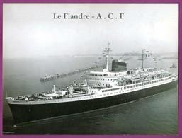 PHOTOGRAPHIE - PAQUEBOT FLANDRE - CONSTRUCTION A.C.F. DUNKERQUE - CIE GENERALE TRANSATLANTIQUE - Schiffe