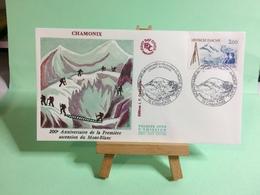 1er Ascension Du Mont Blanc - 74 Chamonix - 8.8.1986 - FDC 1er Jour Coté ..€ - FDC