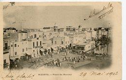 1610. CPA TUNISIE BIZERTE. PLACE DU MARCHé 1902 - Tunisia