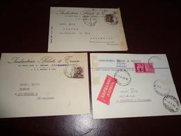 B752  3 Interi Postali Spediti A Ferentino Frosinone Presenza Di Alcune Pieghe - 6. 1946-.. Repubblica