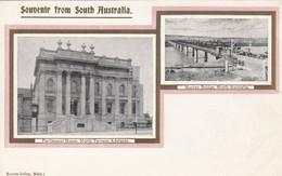 SOUTH AUSTRALIA , 1890s ; Adelaide Parliament Houses & Murry Bridge - Adelaide
