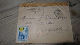 COMORES : Enveloppe Commerciale Postée De Fomboni En 1953 - Komoren (1950-1975)