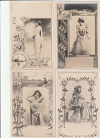 """4 CPA:""""REUTLINGER"""" BLANCHE MIROIR,BOIE,MARIETTE SULLY,HAYGATE - Illustrateurs & Photographes"""