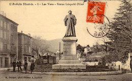 07 - LES VANS - Statue Léopold Ollier - - Les Vans